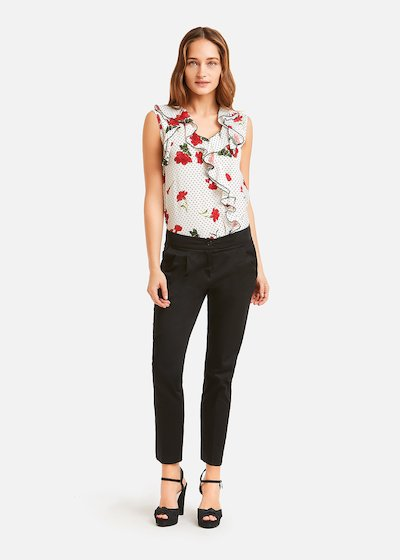 Top Thery with flowers and polka dots pattern