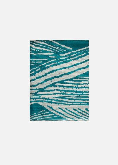 Spy striped print silk scarf
