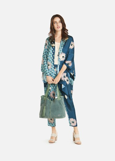 Clayd shrug with floral print