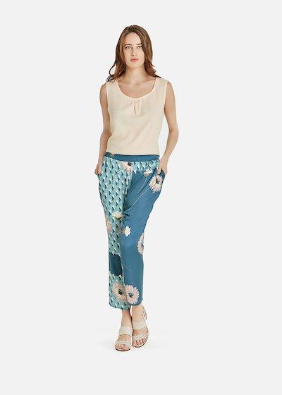 Pantaloni Pixie effetto raso