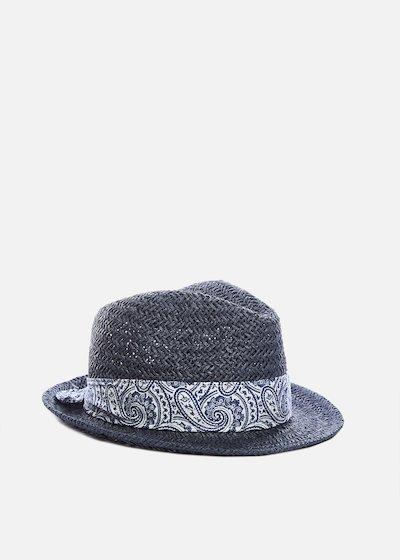 Paper hat Cyprien avion colour with cashmere band