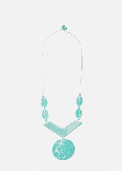 Caloa resin necklace with turquoise stones