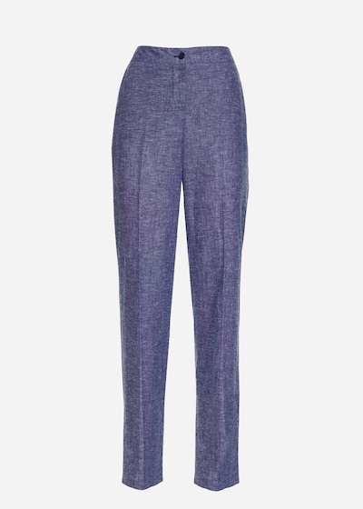Patrik linen denim-effect trousers - Avion