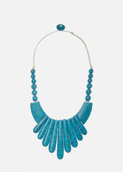 Resin broken effect necklace Coseida