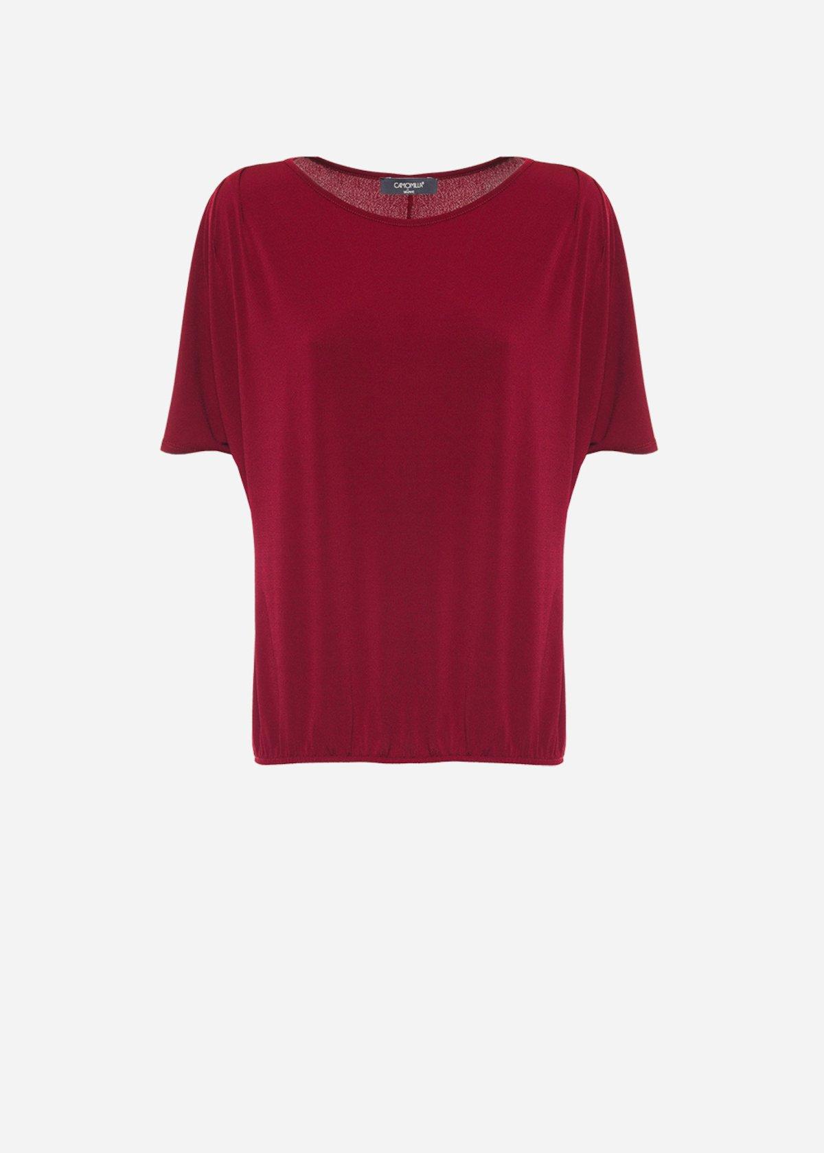 T-shirt Silvy amaranto in Jersey - Amaranto