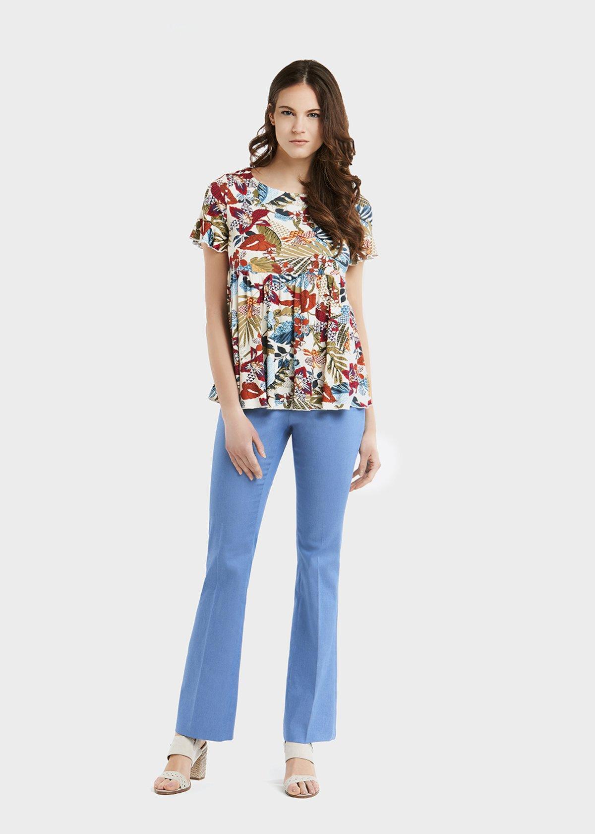 Serafina t-shirt with exotic jungle pattern