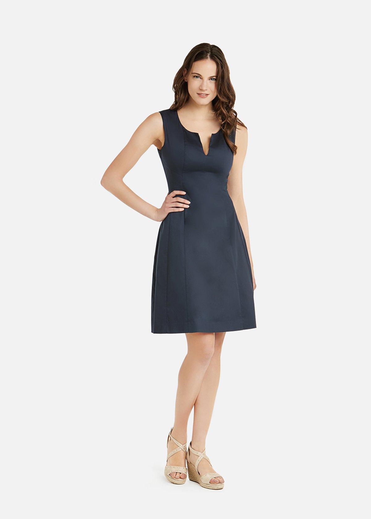 Astrid  cotton sateen midi dress - Medium Blue