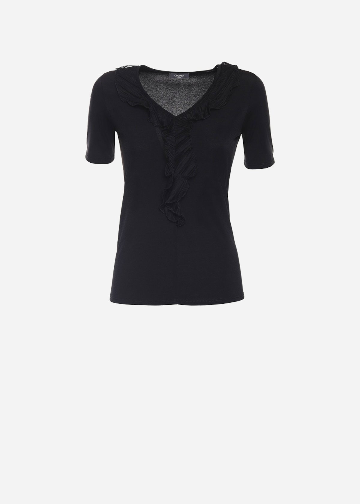 T-shirt Soemi con plissè sullo scollo
