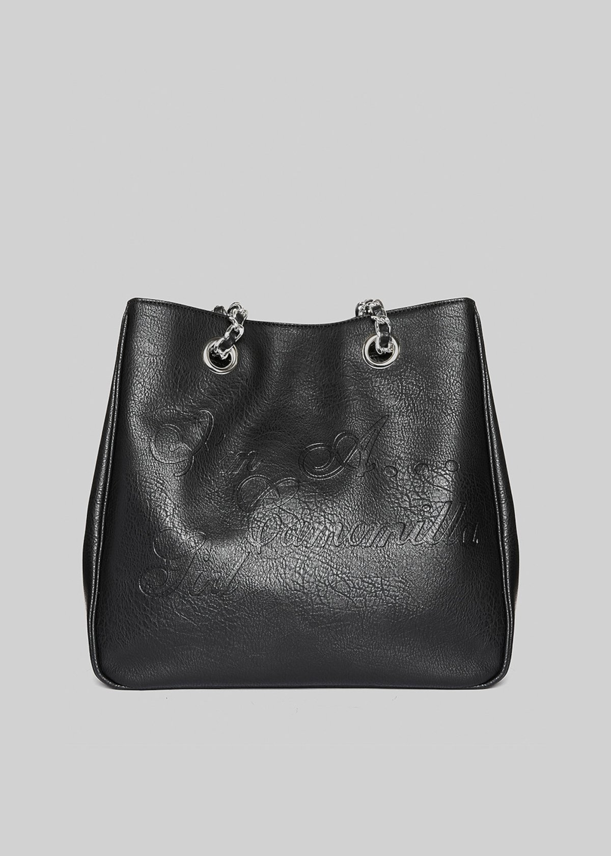 Minivinta vintage faux leather shopping bag - Black