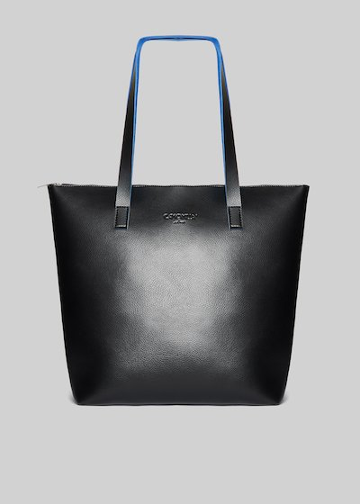 Bilia shopping bag in double colour faux leather