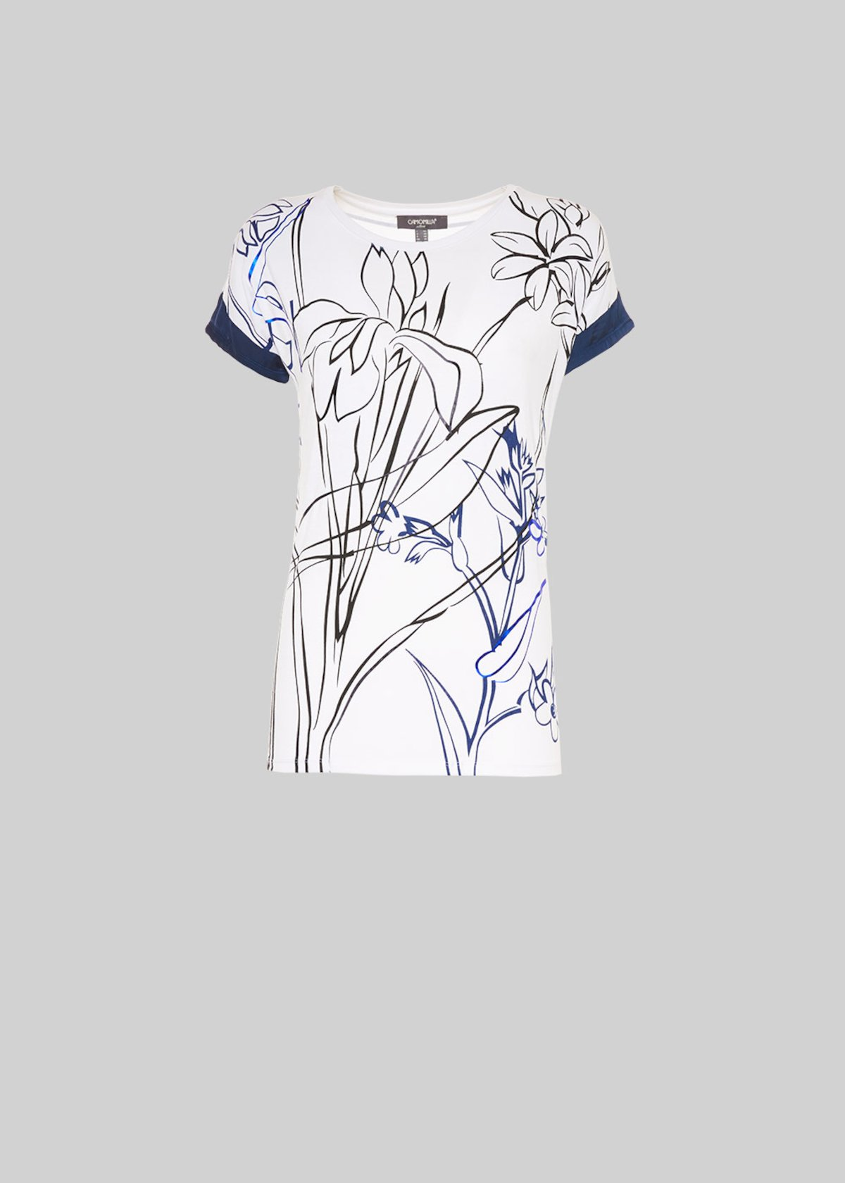 T-shirt Stanley floral fantasy - White / Medium Blue Fantasia