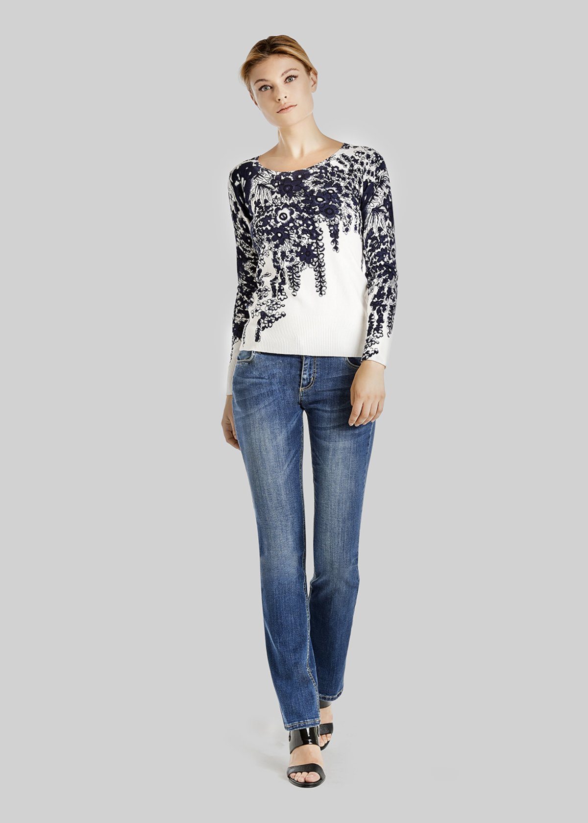 Marcel sweater with contrast print