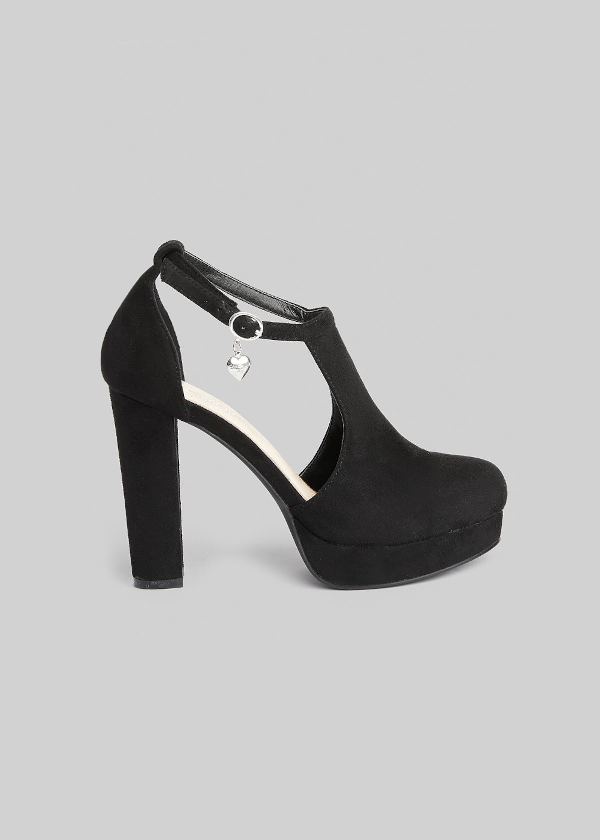 Fake suede Steila Sandals with heel and plateau