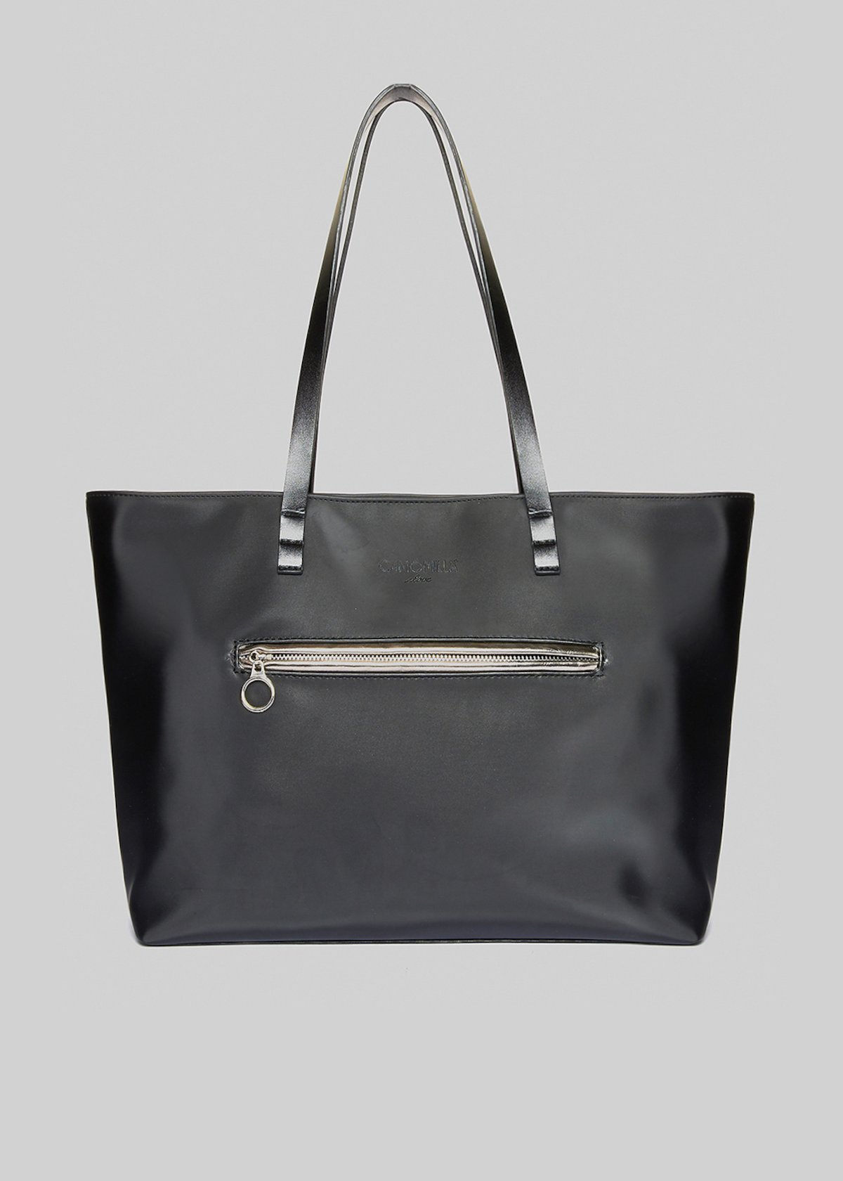 Shopping bag Buah con zip frontale