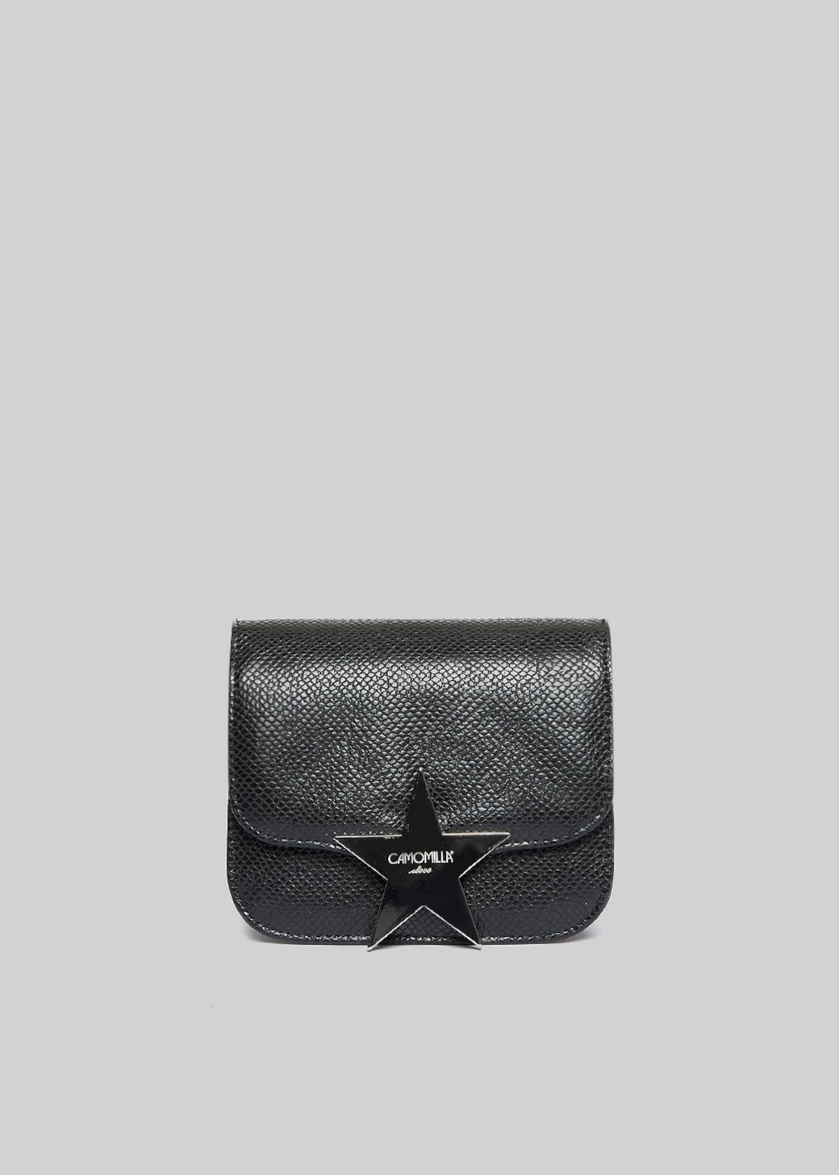 Clutch bag Baita in ecopelle effetto pitone con chiusura star - Black