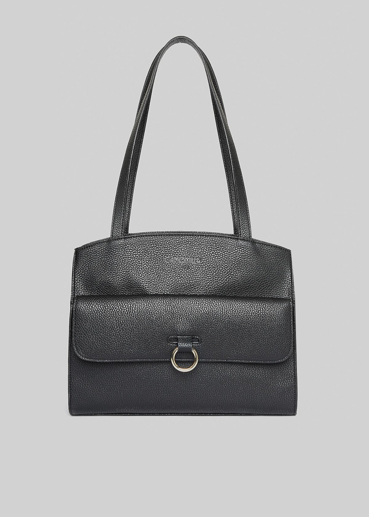 Faux leather Boogy bag with ring on the front