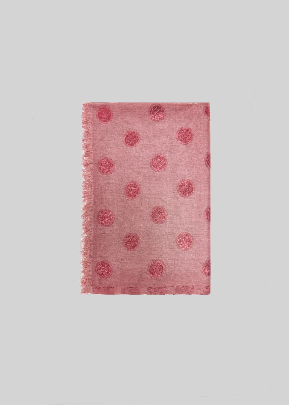 Silva macro polka dot scarf