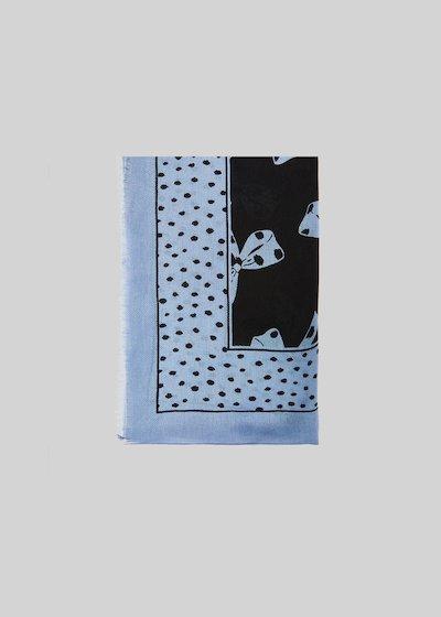 Sciarpa Stilla con stampa fiocchi e bordo black