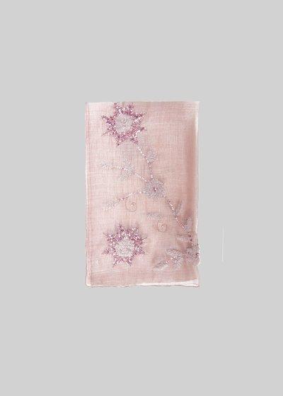 Sciarpa Sapy in seta e cotone con dettagli in paillettes