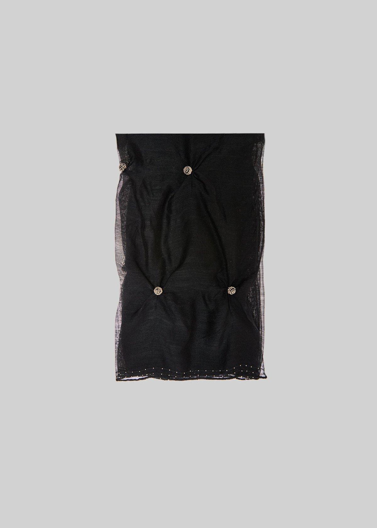 Sciarpa Simono in seta e lana con dettaglio sfere