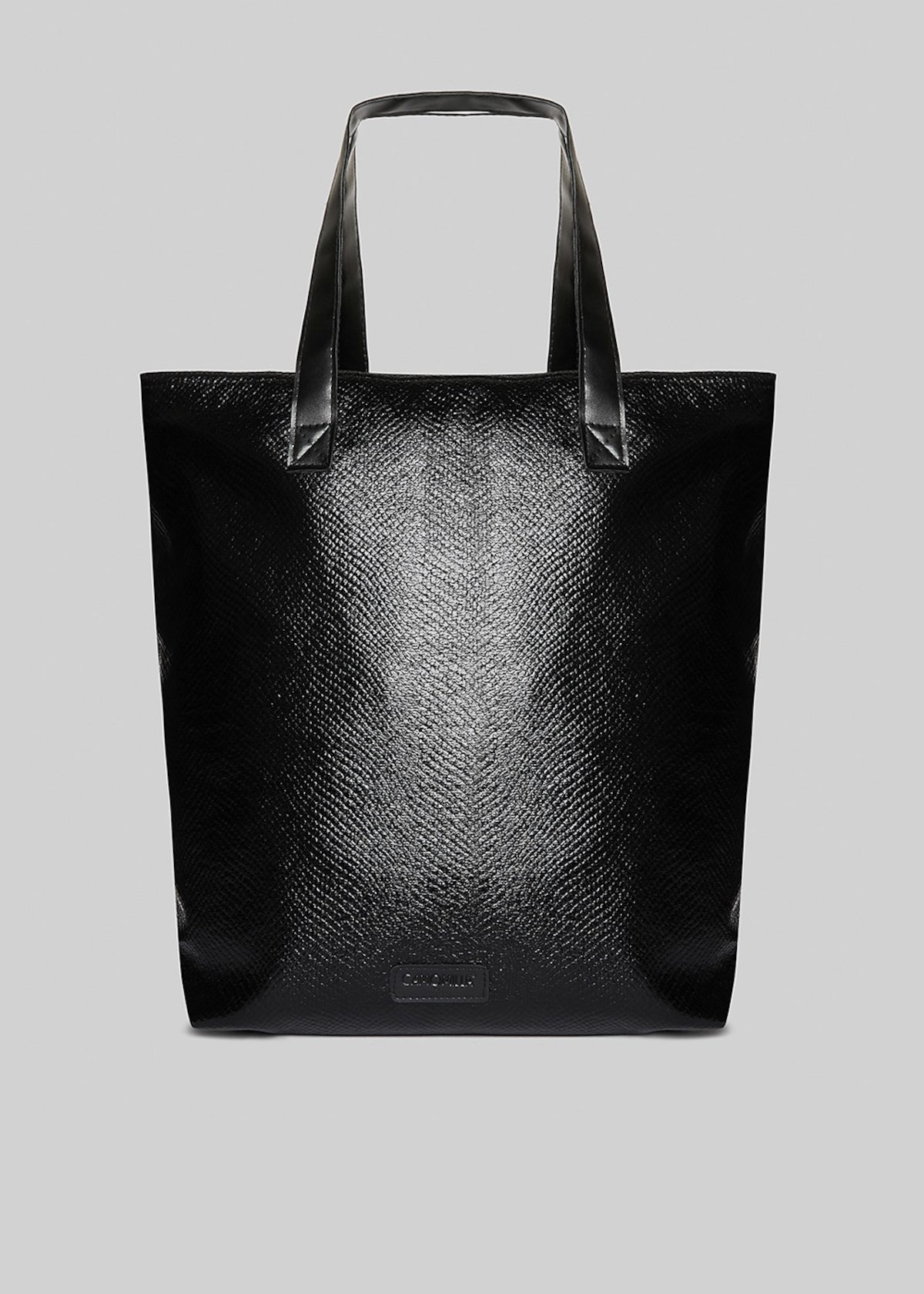 Shopping bag Barry in fabric con silver zip