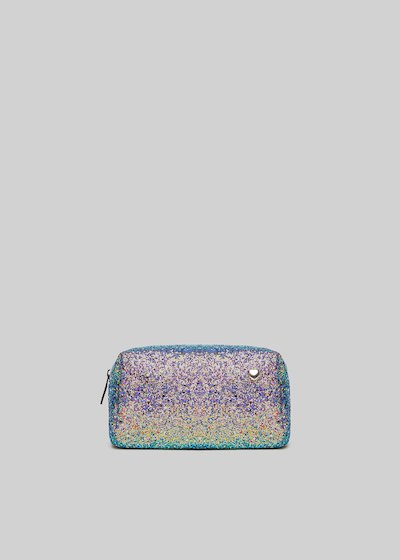 Brendy beauty case in glitter material