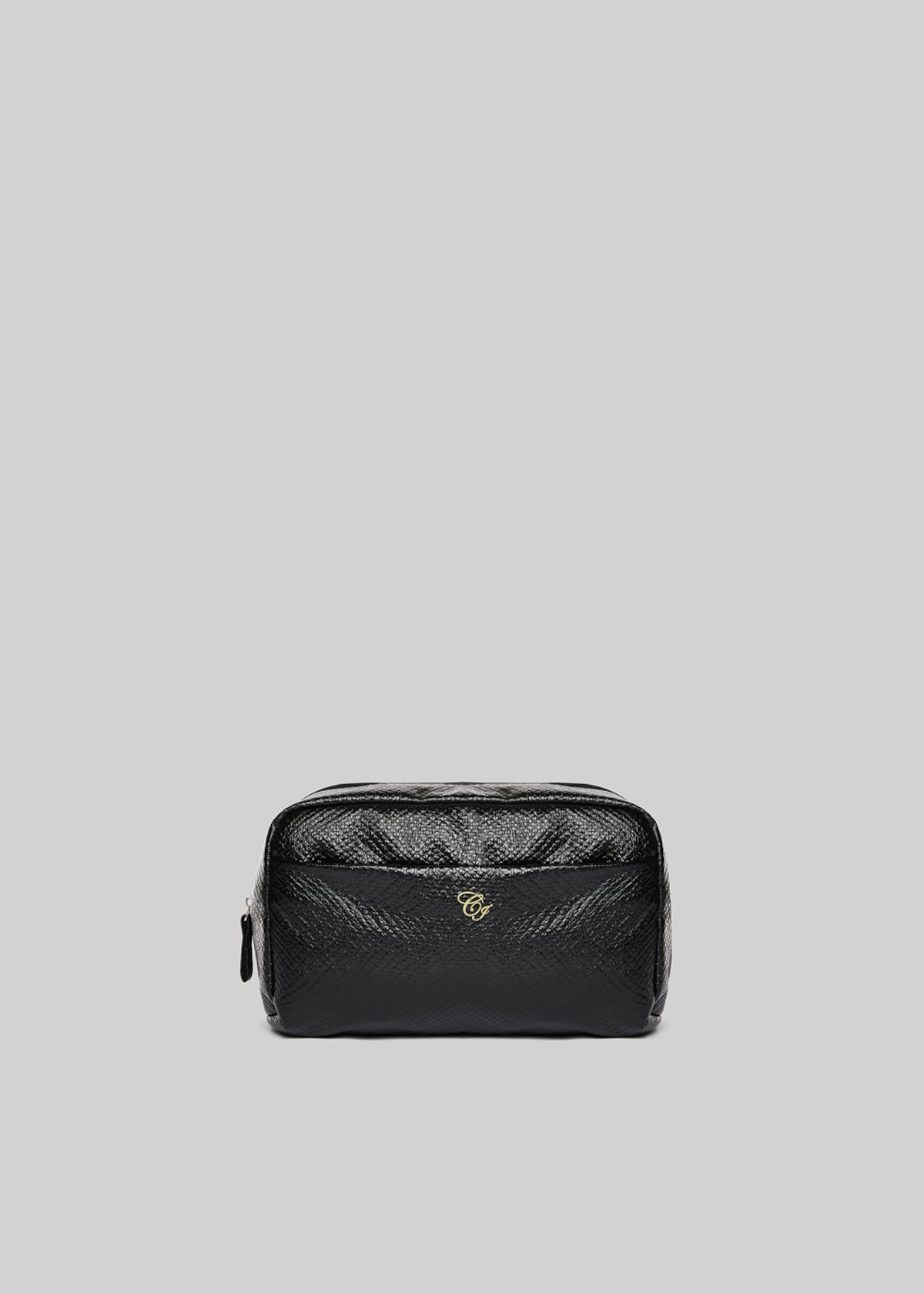 Faux leather Brinkly beauty case and CI logo printed
