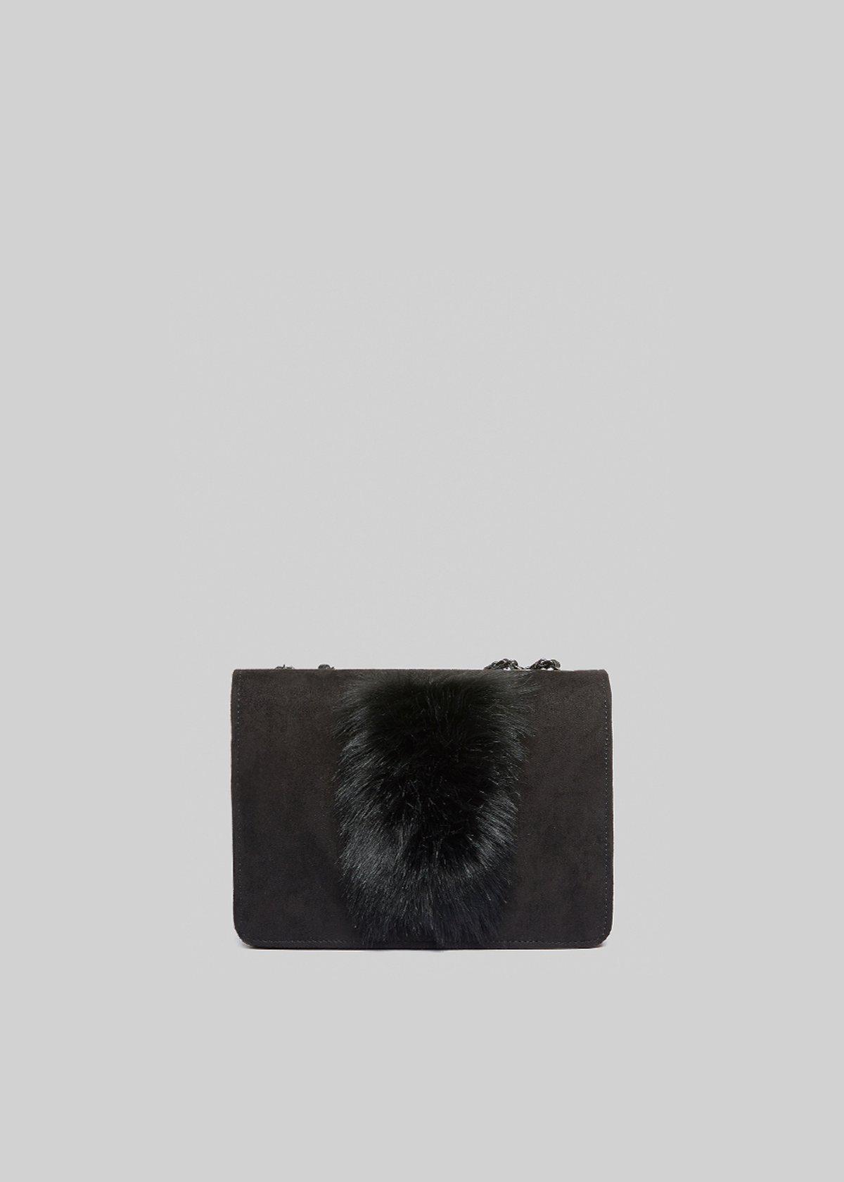 Fede Four rigid clutch with fake fur detail