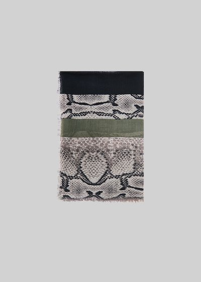 Seiko scarf with python print