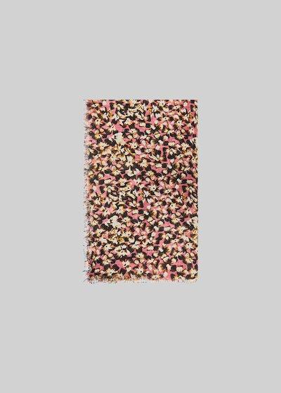 Sciarpa Saffy con stampa micro flower