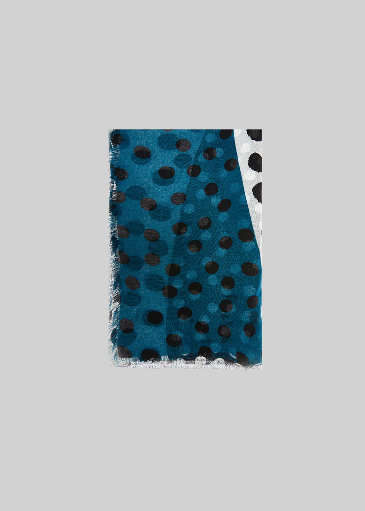 Sande bicolor scarf polka dots print - White / Black Pois - Woman - Category image