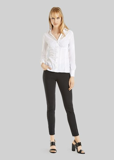 Scarlett Poplin Shirt bustier model