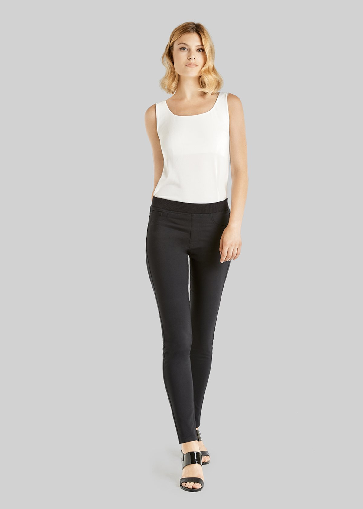 Kelly jeggings trousers technical fabric - Black - Woman - Category image