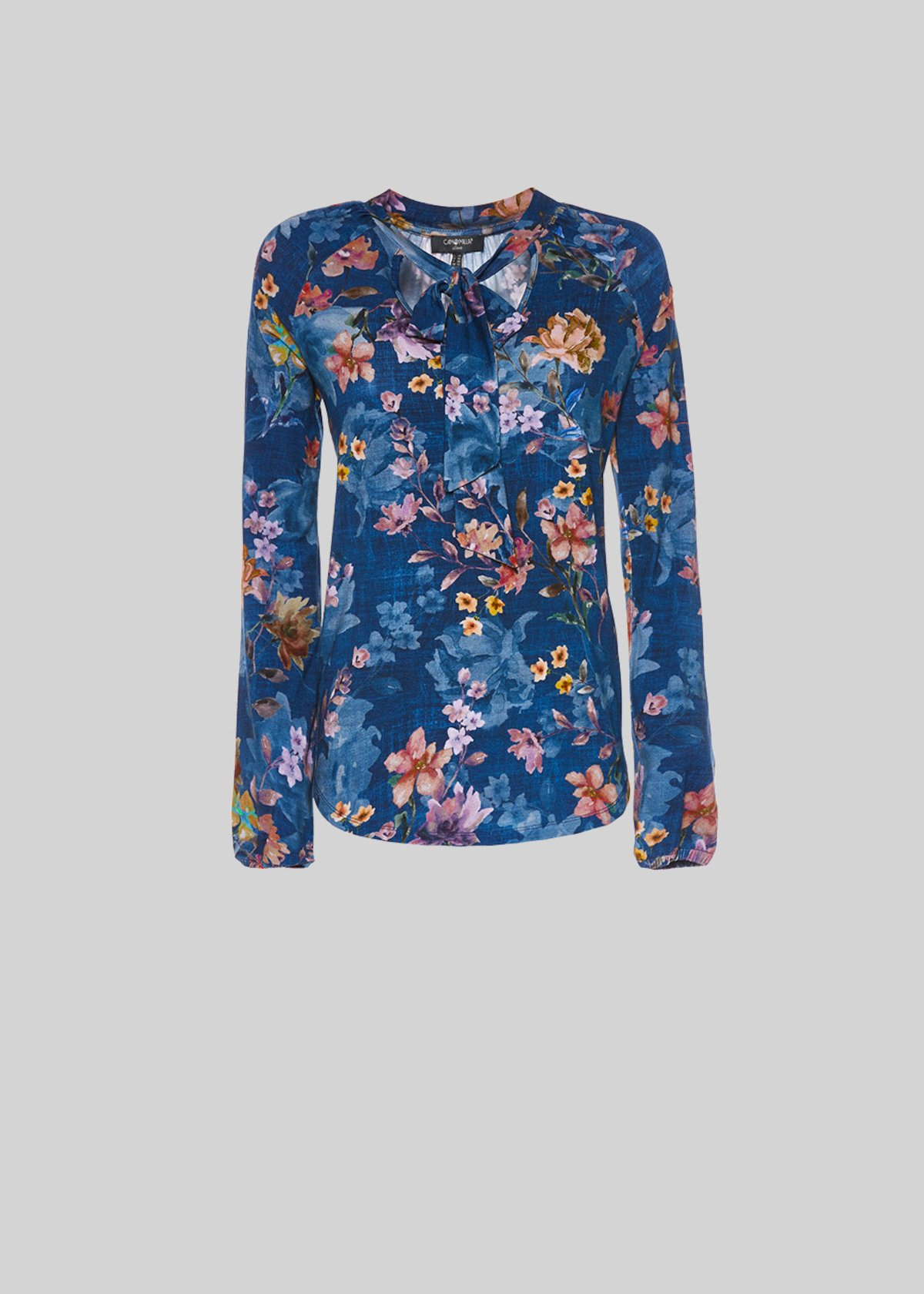 Shaggy jersey flower printed t-shirt - Medium Blue\ Land\ Fantasia - Woman - Category image