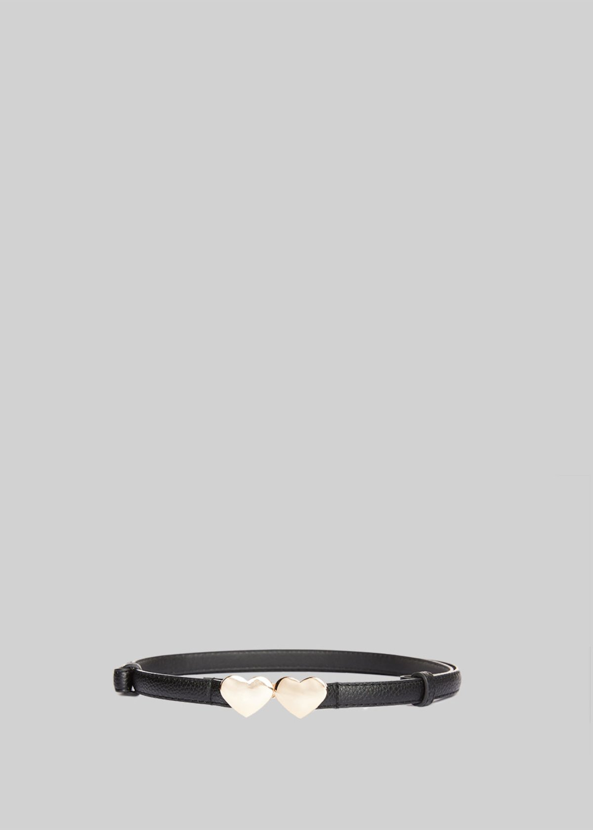 Cuores belt in deer print faux leather with heart-closure