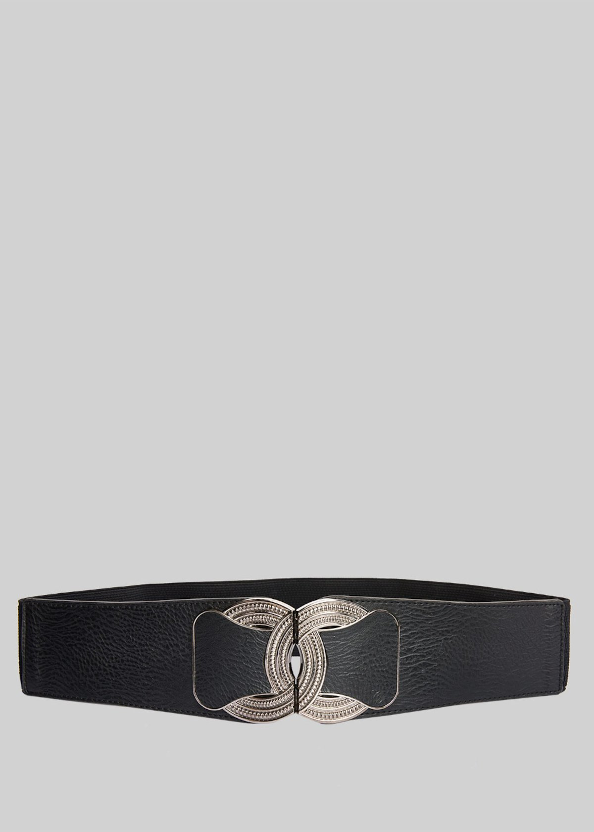 Colty belt in faux leather with metal closure - Black