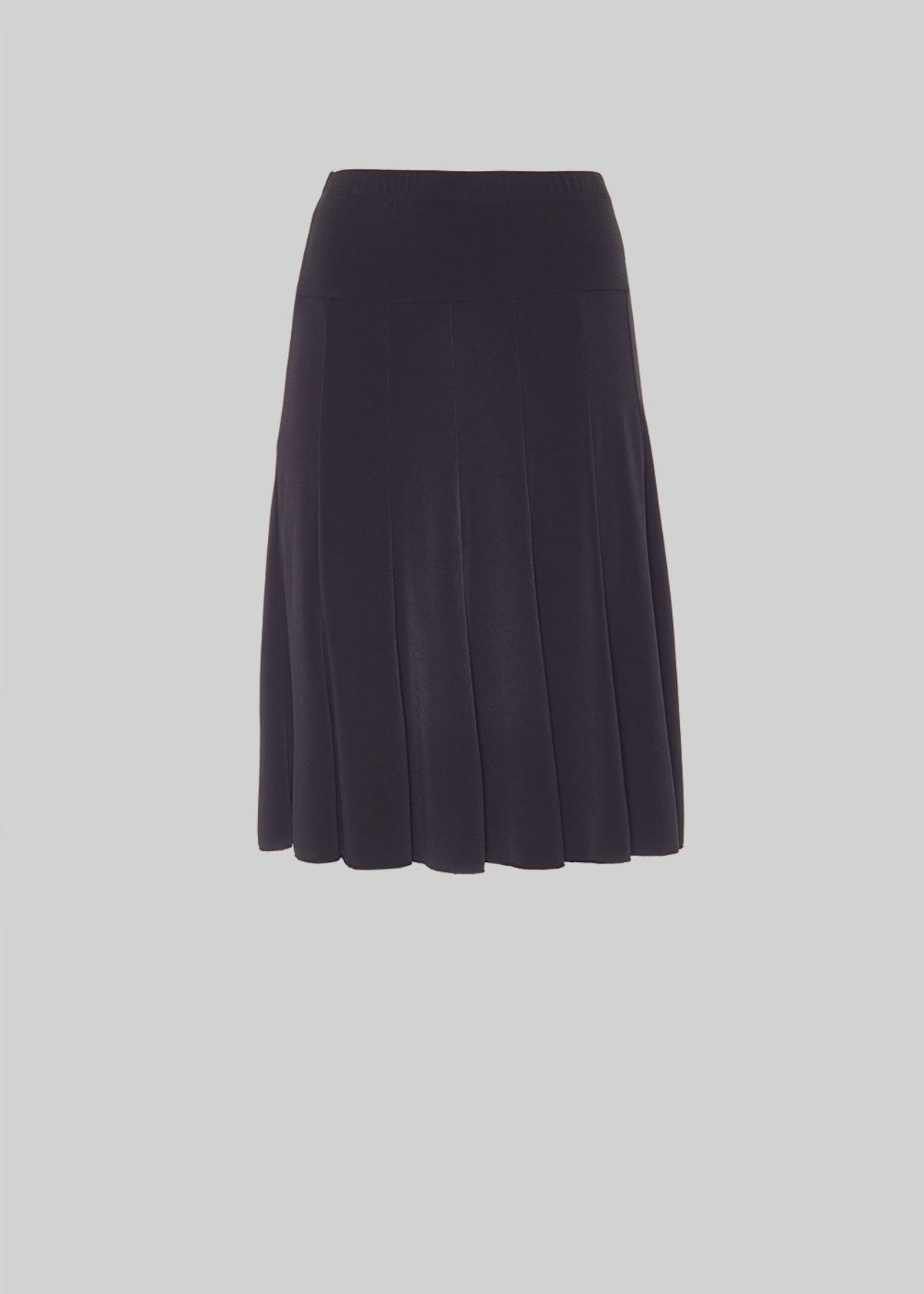 Goya skirt with jersey godets - Black