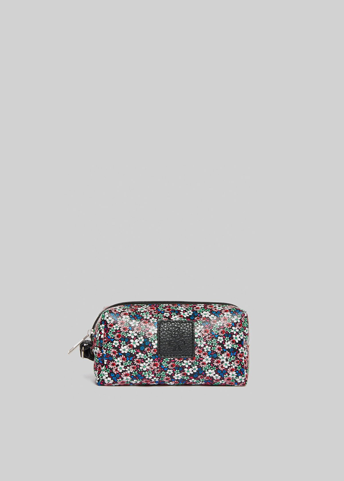 Faux leather Briccflow beauty floral print - Black  Fantasia