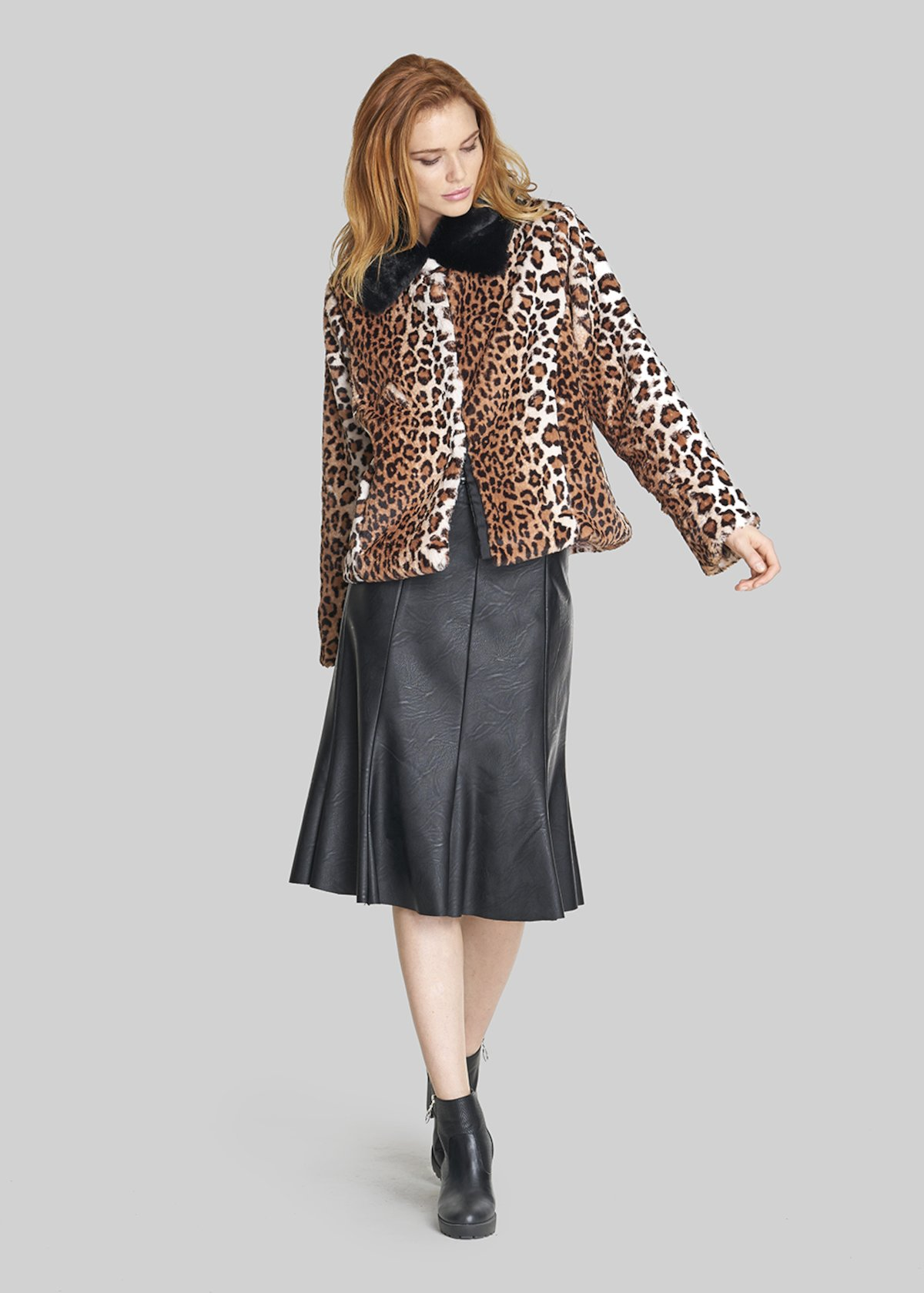 Gioel jacket with contrasting collar