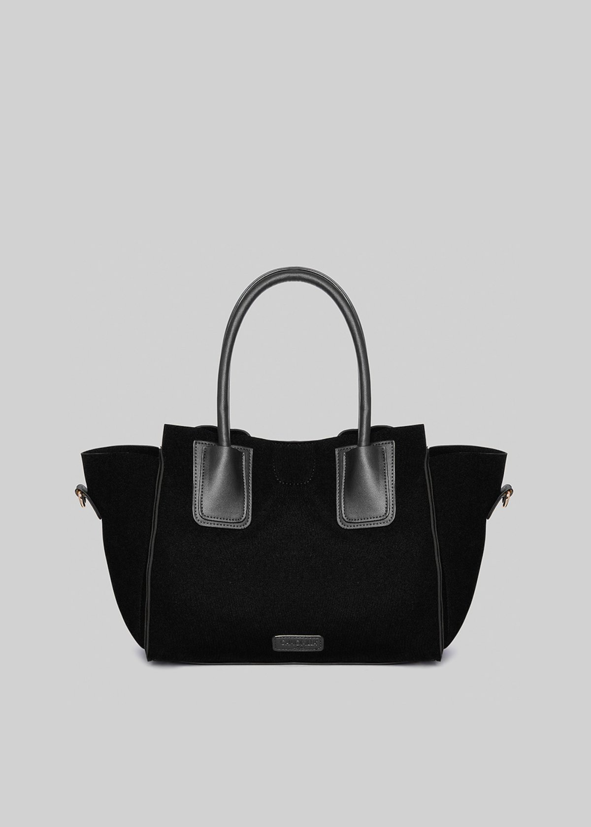 Borsa Blakie in neoprene ed ecopelle con tracolla - Black