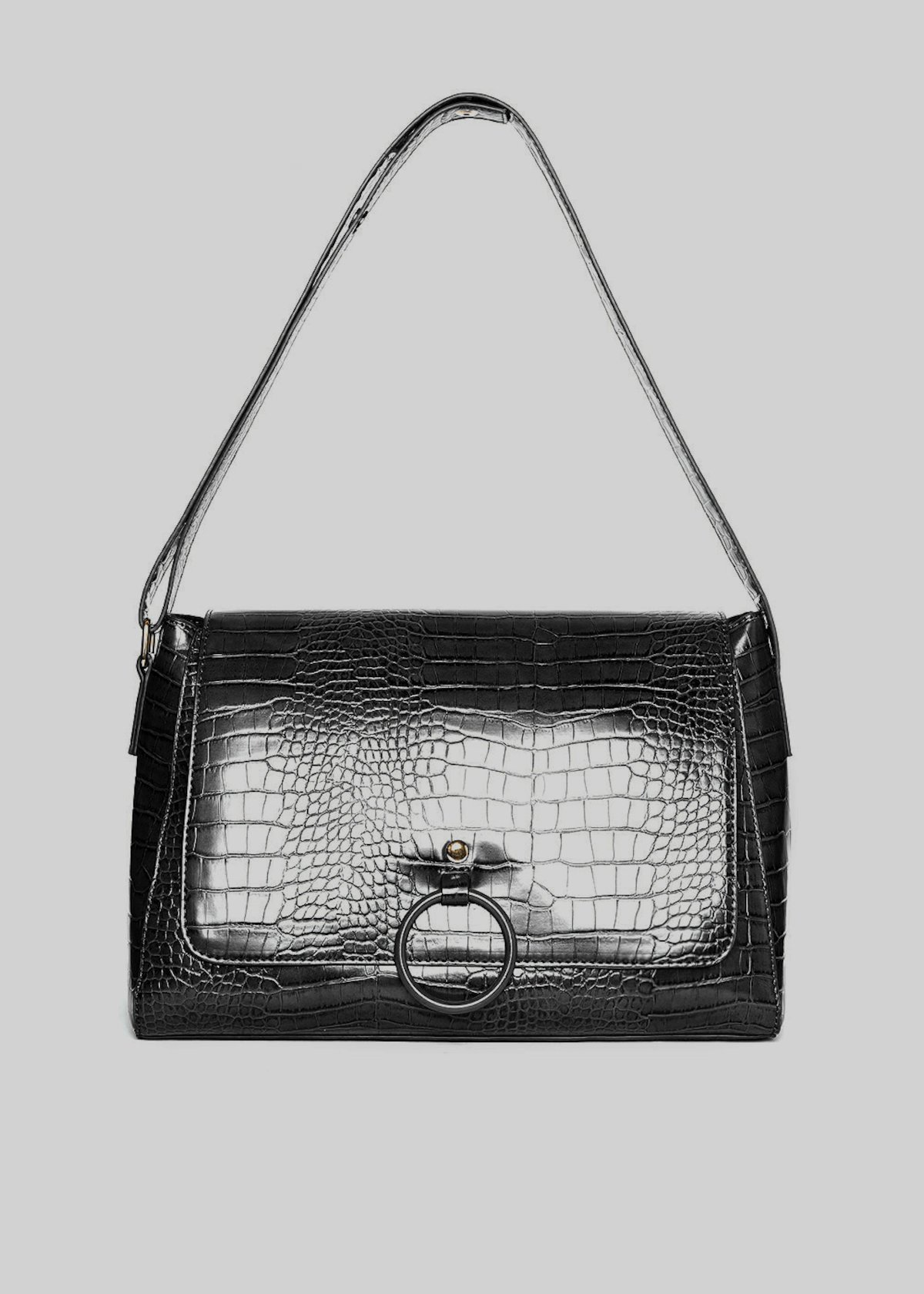 Shoulder bag Boralia C in ecopelle effetto cocco