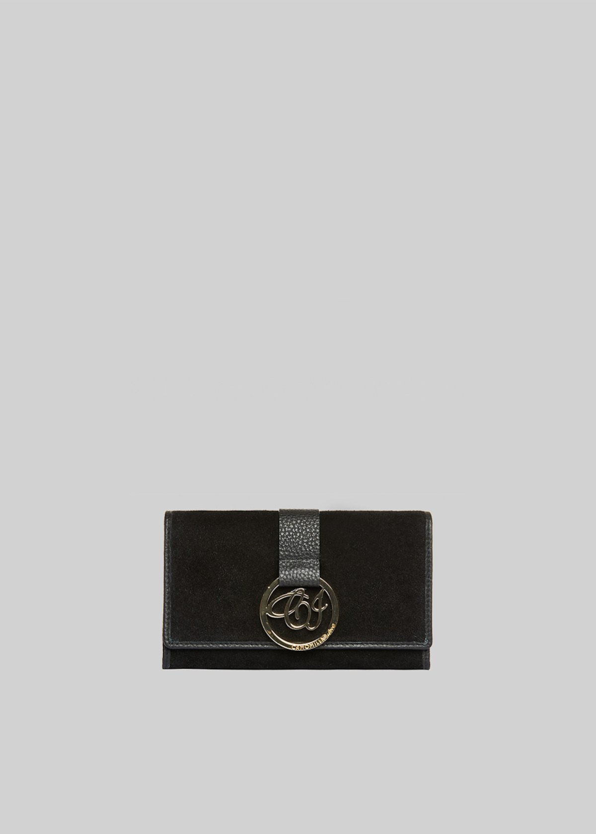 Pinky wallet genuine suede with CI logo detail - Black