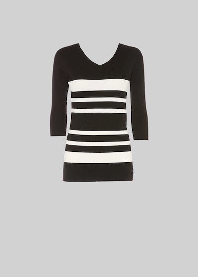 Michael stripe fantasy sweater with V-neck