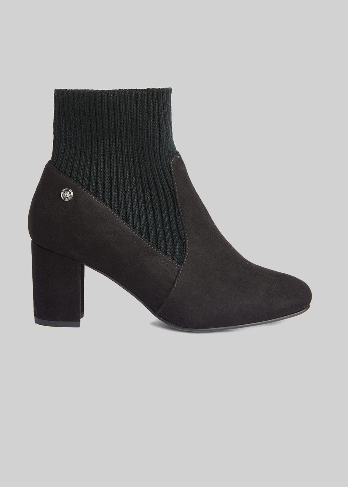 Sylvie ankle boots of fake suede with knit details