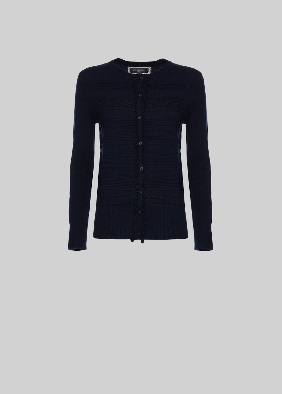 Claudie knit Cardigan stripes effect - Medium Blue
