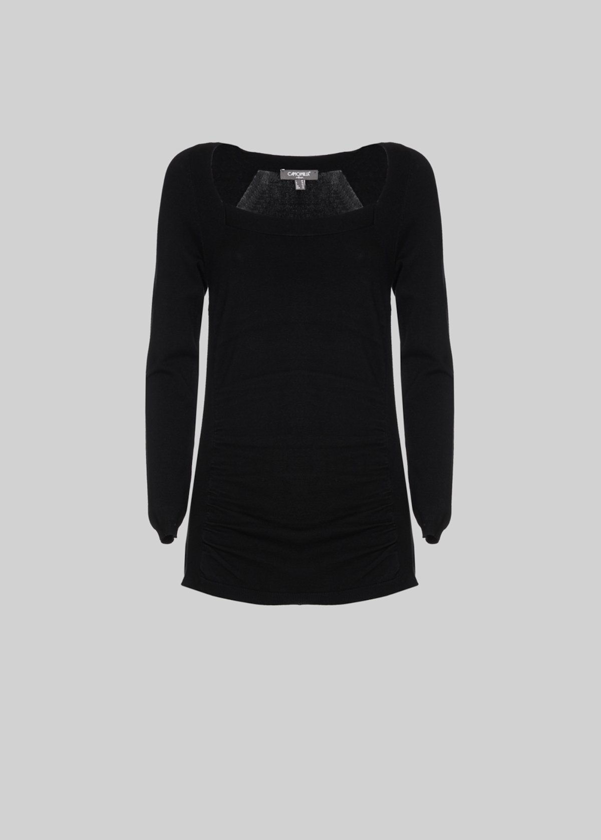 Marvin Square-neck sweater - Black