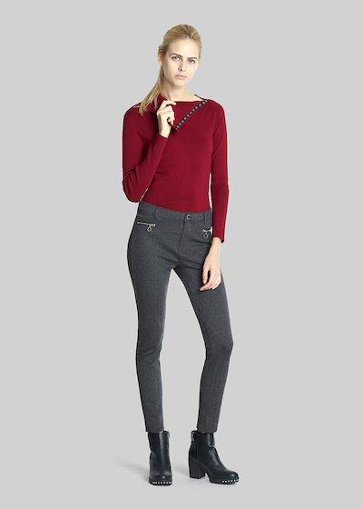 Miquela Buttoned Turtleneck Sweater