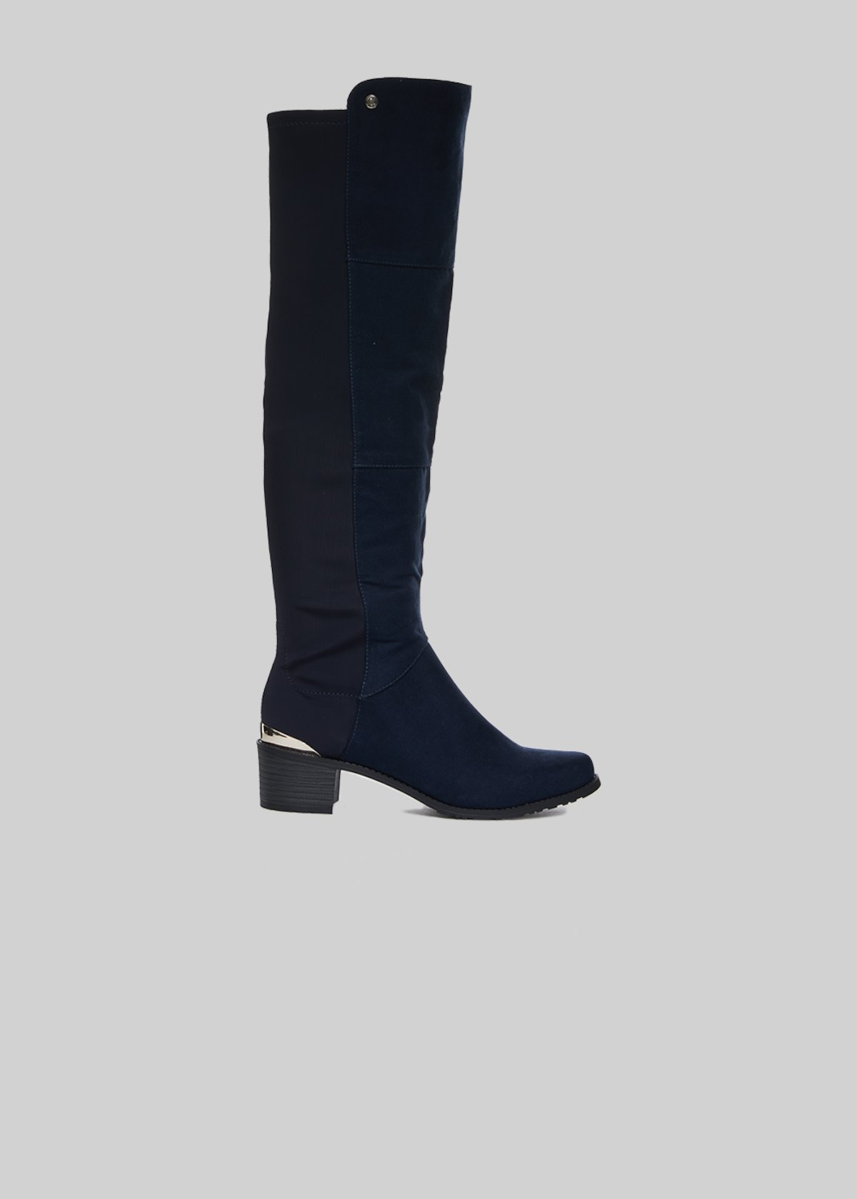 Stivali Sindy in fake suede con dettaglio metal sul retro - Dark Blue -  Donna - 96fc080f47b