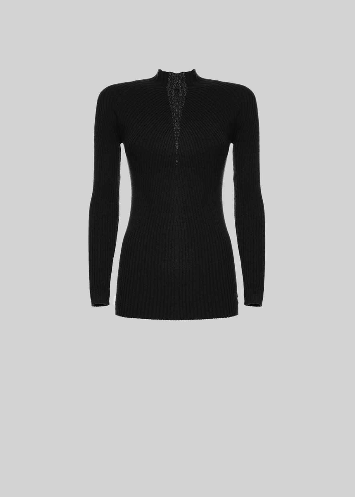 Musy sweater with Raglan sleeves and lurex detail - Black