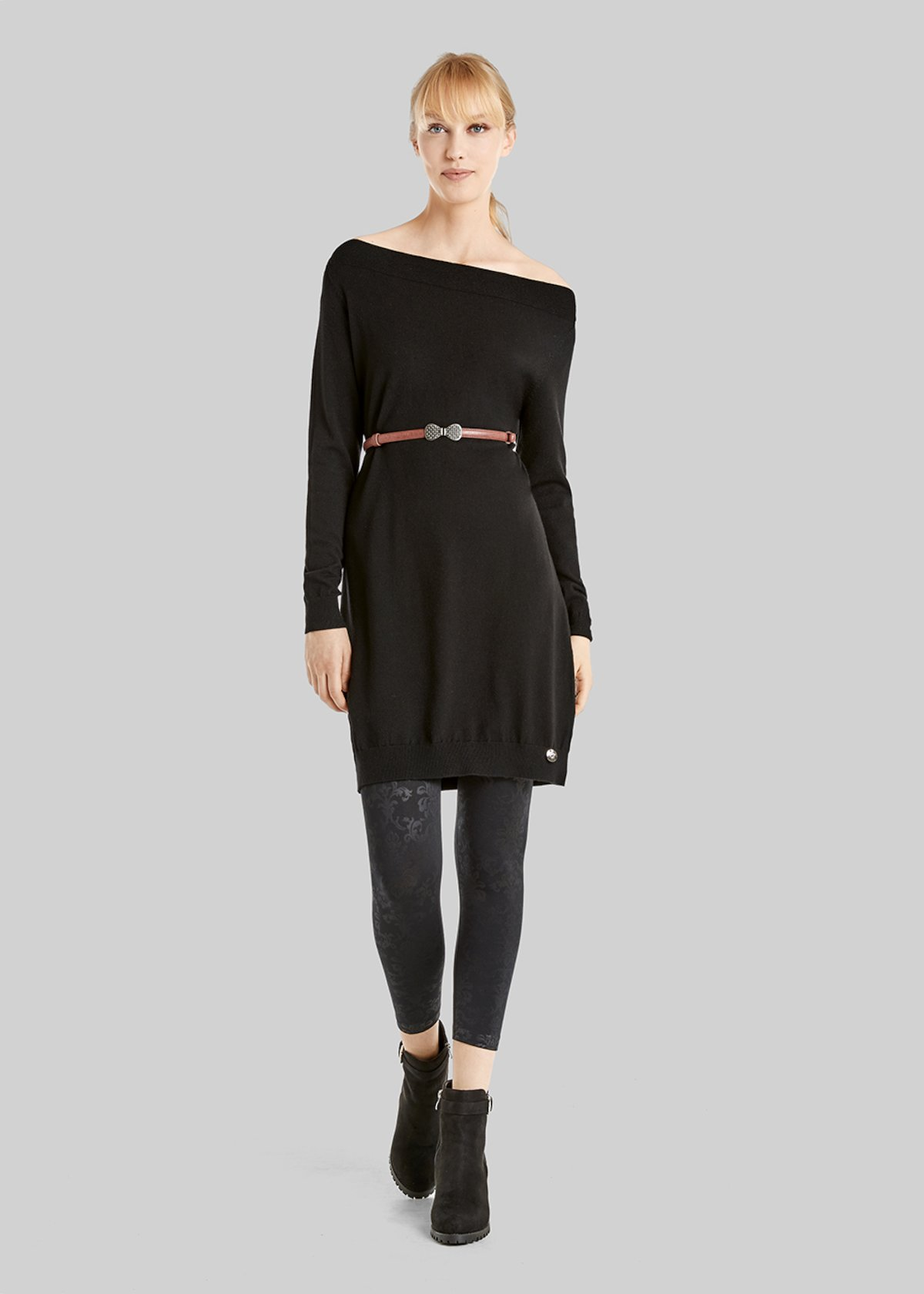Matisse sweater with boat neckline - Black